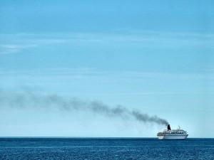 Comfortably Numb ship smoke on the horizon